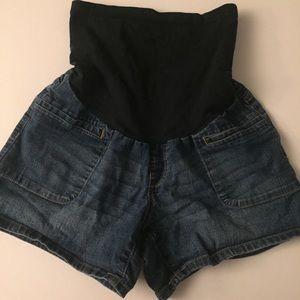 Oh Baby maternity denim shorts size Medium